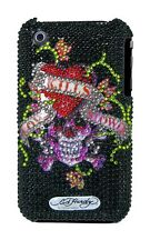 Ed Hardy Crystal Snap-On Back Cover for iPhone 3G & 3GS, Black Love Kills Slo...