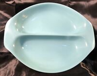 Vintage Russel Wright Home Decorators Divided Vegetable Turquoise Melmac