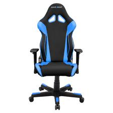 DXRacer OH/RW106/NB Black & Blue Racing Series Gaming Chair & Cushions