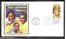 US SC # 3877 Sickle Cell Disease FDC. Colorano Silk cachet