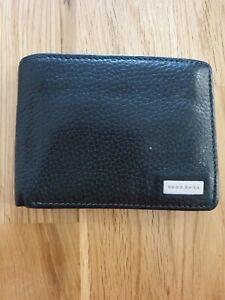 HUGO BOSS Black Trifold Leather Wallet