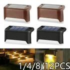 Outdoor Solar Led Deck Lights Garden Patio Pathway Stairs Step Fence Lamp Fr