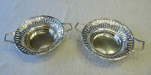 Sterling Silver Reticulated Dishes B&T England 1990s 104 Grams Silver Not Scrap