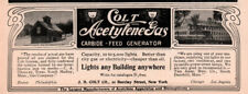 1903 A AD COLT ACETYLENE GAS GENERATOR PHOTOS S HADLEY TOWN PLANT FACTORY ARMS