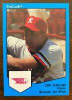 1989 ProCards Minor League Issue CURT SCHILLING, #1655, RC Rookie, HOF'er?
