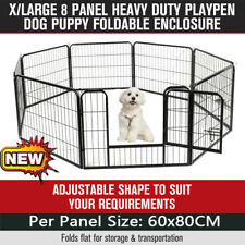 60 x 80cm 8 Panel Pet Dog Play pen Puppy Exercise Fence Enclosure Cage Cat RO