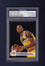Nick Van Exel signed LA Lakers Hoops Rookie basketball card Psa Authenticated