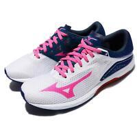 Mizuno Wave Sonic White Pink Blue Women Running Shoes Sneakers J1GD1734-63