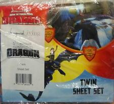 How to Train Your Dragon TWIN Sheet Set ~ Night Fury & Hiccup BNIP boys bedding