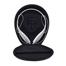 Carrying Case For Lg Tone Hbs 730 Wireless Stereo Headset Oval Pu Leather Black