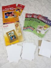 Inkjet Printer Photo Paper Lot Mixed Sizes 4x6 8.5x11 Note Cards Envelope Glossy