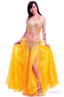 perform Belly Dance Costume Outfit Set Bra Top Belt Hip Scarf Bollywood 2 PCS