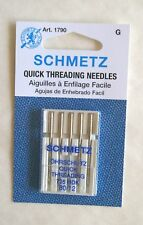 Self Threading Sewing Machine Needles 5pc Schmetz