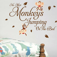 Monkey Bedroom Children Nursery Wall Quotes Stickers Wall Decals Wall Arts th