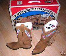JUSTIN Womens 5M Vintage Beaded Western Cowboy Boots Style# 10516 $400+ Value