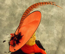 EXTRA LARGE FEATURE HAT/FASCINATOR RED & BLACK,EX DISPLAY NO RETURN RRP £265