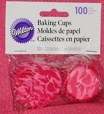 Camo (Pink) Miniature Cupcake Papers,Wilton,100 ct, Bake Cup,415-8073