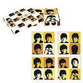 4 BEATLES ONDERLEGGERS IN DOOSJE / BEATLES COASTERS IN GIFT BOX (BROWN)