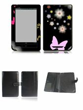 Happybird Nook Tablet Nook Color Case Cover with skin combo-black set2(143)