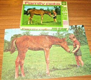 ARROW Jigsaw Puzzle 'THE YOUNG FOAL' Family Pets series VGC Complete