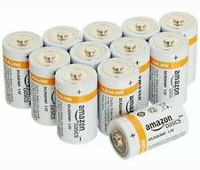 12pk AmazonBasics D Cell Everyday Alkaline Batteries 12-Pack Digital LR20-Sealed