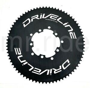 Driveline AL7075 Road Bike Bicycle TT Chainring 75T, BCD 110/130mm, Black