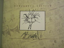 Berke Breathed signed auto Bloom County Library V3 book (Bill The Cat remarqued)