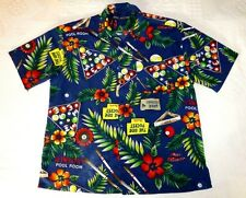 Box Office Island Men's Shirt Novelty Aloha Billiards Tropical Hibiscus XL Pool