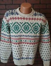 VTG American Eagle Men's Wool Blend L/S Crewneck Ski USA Made Sweater Large B5-2