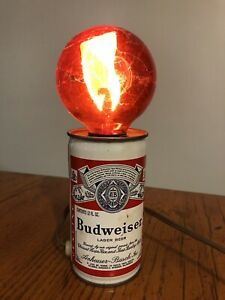 Vtg Barware BUDWEISER Beer Can Electric Light Lamp WORKS!