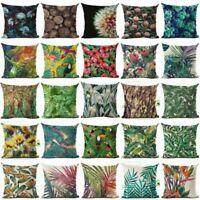 18''x18'' Plant Flower Cotton Linen Pillow Case Cushion Cover Fashion Home Decor