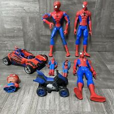 Spider-Man 7 Figure Lot With Cars