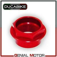 Tuerca rueda delantera Ergal trabaja CNC Rojo Ducabike Ducati DIAVEL 2011 > 2019