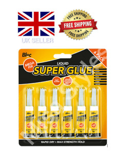 NEW SUPER GLUE PACK STRONG BOND ADHESIVE GLASS WOOD PLASTIC RUBBER METAL 3g