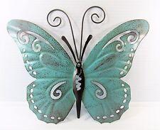 Butterfly Hand Painted Metal Wall Art Yard & Garden Home Decor (E)
