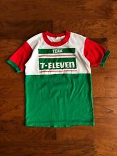 Vintage 1980s Team 7 Eleven Cycling T Shirt Colorblock Rare Size Small