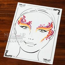 A4 20x30 Face Body Painting TRAINING STATION BOARD mat practice sheet erasable