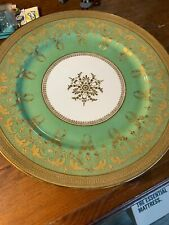 Set of 10 Antique French Limoges Heavy Gold Encrusted Dinner Service Plates B&C
