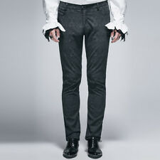 Gothic Mens Trousers Suit Pants Black close-fitting handsome Devil fashion
