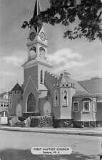 Sussex New Jersey First Baptist Church Street View Antique Postcard K86872