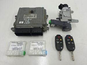 2009 VOLVO XC90 2.4 D5 185 ENGINE ECU KIT WITH 2 KEYS 31272463