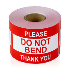 "Please DO NOT BEND Thank You Stickers Caution Care Careful Labels (2"" x 3"", 1PK)"