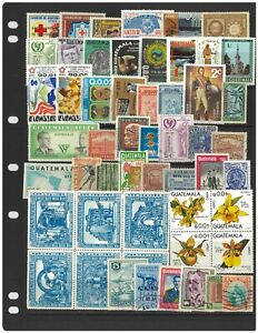 Guatemala 50 Different Stamps Mint & Used Mixed in Bag