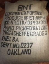 2 lbs Green Coffee Beans Ethiopia Yirgacheffe Chelba Natural (Dry) Process