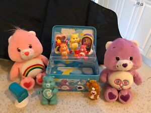 Assorted Care Bears,figurines metal chest,soft toys x 2 HAVE A L@@K!