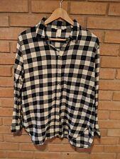 H&M Black White Plaid Button Shirt Women's Size 10 Flannel