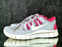 Nike Run Free 5.0+ Gray Pink 580591-061 Running Shoes Women's Sneakers Sz 8.5 US