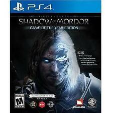 MIDDLE EARTH: SHADOW OF MORDOR GOTY (PS 4, 2015) (7265)        FREE SHIPPING USA