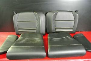 PORSCHE 911 996 TURBO CONVERTIBLE REAR SEATS BLACK LEATHER W/ YELLOW STITCHING