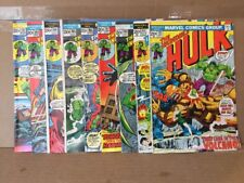 Incredible Hulk Lot Of 9 #161-170 no hulk 181